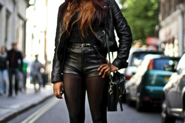 On the Street…Black Leather Look