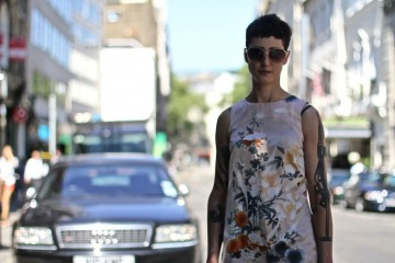 On the Street…Floral Prints & Tattoos